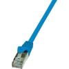RJ45 Hálózati csatlakozókábel, CAT 6 F/UTP [1x RJ45 dugó - 1x RJ45 dugó] 0,5 m, kék LogiLink