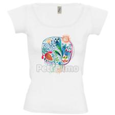 Petissimo tavaszi női póló - fehér L női póló
