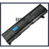 Toshiba Satellite M55 Series 4400 mAh 6 cella fekete notebook/laptop akku/akkumulátor utángyártott