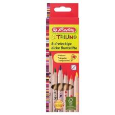 Herlitz Hungária Kft. Herlitz Színesceruza/6 szín Trilino (vastag), natúr, FSC színes ceruza