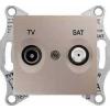 Schneider Electric SEDNA TV-R-SAT aljzat átmenő 4 db IP20 Titán SDN3401968 - Schneider Electric