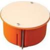 Tracon Electric Gipszkarton doboz, sima, fedéllel, narancssárga - 80x45mm, IP44 GD8021 - Tracon