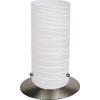 Rabalux Asztali lámpa h24,5cm kapcsolós vezetékkel szatin króm/ fehér-csíkos Aurel 6339 Rábalux