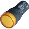 Tracon Electric LED-es jelzőlámpa, sárga - 230V AC/DC, d=16mm LJL16-YE - Tracon