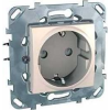 Schneider Electric UNICA PLUS Csatlakozóaljzat védőföldelt gyerekvédelemmel 16 A IP20 Elefántcsont MGU50.037.25Z - Schneider Electric