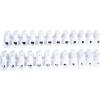 Tracon Electric Flex. nyomólemezes sorozatkapocs, H profil, 12 tag, fekete - 25mm2, 450V, 80A, PP SF60A-H-L - Tracon