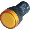 Tracon Electric LED-es jelzőlámpa, sárga - 12V AC/DC, d=22mm LJL22-YA - Tracon