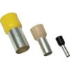 Tracon Electric Szigetelt (PA6.6) érvéghüvely, ónozott elektrolitréz, fekete - 6mm2, L=26mm E123 - Tracon
