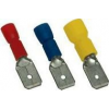 Tracon Electric Szigetelt rátolható csatlakozó csap, sárgaréz, kék - 4,8x0,8mm, 2,5mm2 KCS5 - Tracon