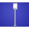 EGLO Kültéri álló lámpa E27 1x60W mag:110cm ezüst, szögletes külső bura/henger belső bura Downtown 88771 Eglo