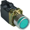 Tracon Electric Világító nyomógomb, fémalapra szerelt, trafóval, zöld, glim - 1xNO, 3A/230V AC, 6V, IP42 NYGBW3341Z - Tracon