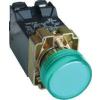 Tracon Electric Jelzőlámpa, fémalapra szerelt, zöld, transzformátorral - 3A/400V AC, IP42, NYGI6 NYGBV53Z - Tracon