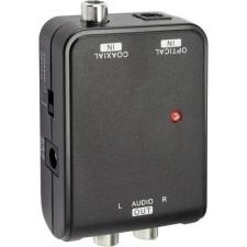 SpeaKa Professional D/A konverter, koax és optikai Toslink jel átalakító audió konverter 2RCA-ra SpeaKa Professional 1274945 audió/videó kellék, kábel és adapter