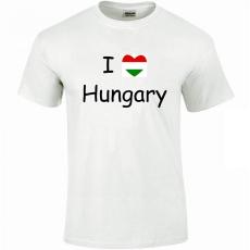 Tréfás póló I love Hungary (XL)