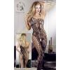 Mandy Mystery lingerie Virágmintás alul nyitott aszimmetrikus overall - fekete - S-L méret