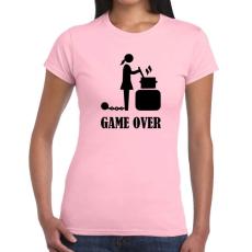 Tréfás póló Game Over csajoknak új (L)