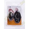 Odeco Floral vibrációs tojás - fekete