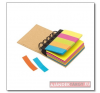 Multi memo kicsi gyűrűs iratgyűjtő színes öntapadós jegyzettömbökkel ajándéktárgy