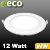 ECO LED panel (kör alakú) 12 Watt - meleg fehér fényű