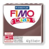 Gyurma, 42 g, égethető, FIMO Kids, barna