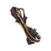 Bitfenix Molex -> 3x Molex Elosztó 55cm - sleeved arany/fekete
