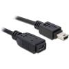 DELOCK Cable USB 2.0 mini-B Extension male/female 1m (82667)