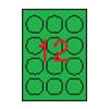 APLI 60mm kör színes neon zöld 240db/cs | Színes etikettek