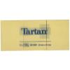 TARTAN Önatapadó jegyzettömb, 38x51 mm, 100 lap, TARTAN, sárga (12db)