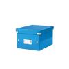 """Leitz Irattároló doboz, A5, lakkfényû, LEITZ """"Click&Store"""", kék"""