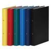 DONAU Gyûrûs könyv, 2 gyûrû, 35 mm, A4, PP/karton, DONAU, citromsárga