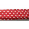 . Krepp papír 50x200 cm, piros alapon fehér pöttyös