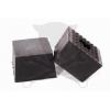 PTC Gumikocka négyzet magas 125x125x85 mm-es alul bütykös-lyukas (GK125x125-GF)