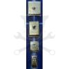 PTC Kalapácsnyél ék készlet 4 db-os acél lapos+fül (SZRSZK)