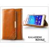 Kalaideng Sony Xperia Z3+/Z4 (E6553) flipes tok kártyatartóval - Kalaideng Royale II Series - brown