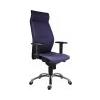 . Fõnöki szék,magas háttámlával,szövetborítás, alumínium lábkereszt, 1824 Lei, kék