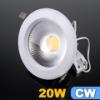 Beépíthető LED lámpa 20 Watt (135 mm, kerek) hideg fehér