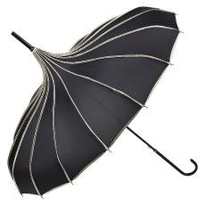 Fekete-fehér pagoda esernyő
