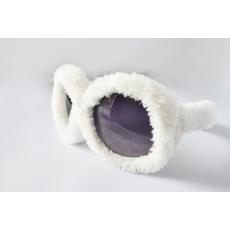 Plüss Rugy Bugy party napszemüveg - fehér