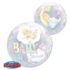 Lufi HÉLIUMMAL TÖLTVE Bubble 22inch-es Precious Moments Baby Shower Bébi Babaszületésre