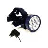 Akkumulátoros tölthető LED fejlámpa