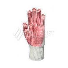 EP® textilkesztyű csúszás ellen, piros pöttyös 8-as (GAN4377)