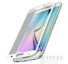 Xprotector Samsung G925 Galaxy S6 Edge  Tempered Glass Full Size 3D kijelzővédő üvegfólia, fehér mobiltelefon kellék