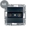 Asfora - TV-R aljzat, végzáró, 1 dB, keret nélkül, acél