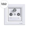 Asfora - TV-R-SAT aljzat, átmenő, 4 dB, komplett, fehér