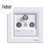 Asfora - TV-R-SAT aljzat, végzáró, 1 dB, komplett, fehér