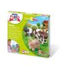 """FIMO Gyurma készlet, 4x42 g, égethető, FIMO """"Kids Form & Play"""", farm"""