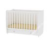 Lorelli Dream 60×120 cm átalakítható, ringatható kiságy white - ÚJ kiságy, babaágy