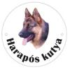 NEMMEGADOTT kutyatábla kerek németjuhász
