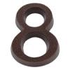 NEMMEGADOTT SB házszám alu. 8 barna 11cm