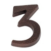 NEMMEGADOTT SB házszám alu. 3 barna 11cm